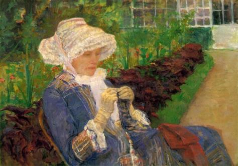 Mary Cassatt - Lydia fazendo crochê