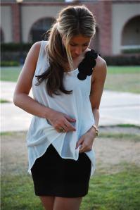 renda na blusa