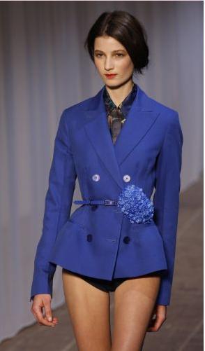 blazer azul Rochas