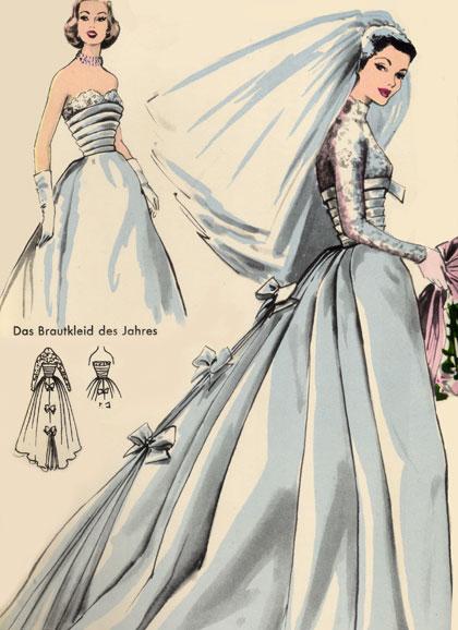 Burda - 1956 - noiva