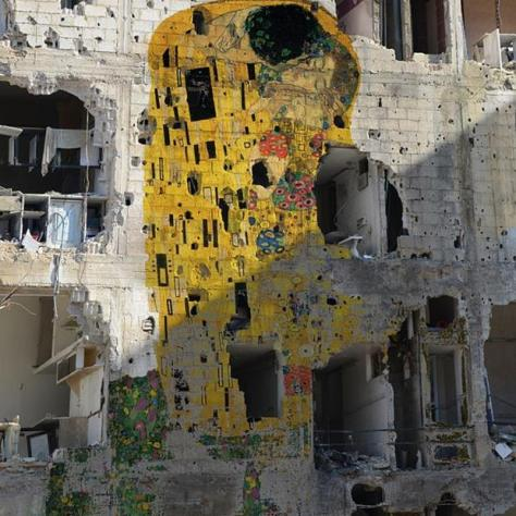 Mural by Syrian artist Tammam Azzam photoshop art